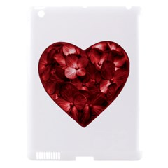 Floral Heart Shape Ornament Apple iPad 3/4 Hardshell Case (Compatible with Smart Cover)
