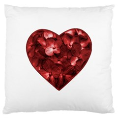 Floral Heart Shape Ornament Large Cushion Case (Two Sides)