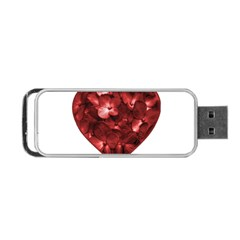 Floral Heart Shape Ornament Portable USB Flash (Two Sides)