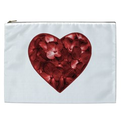 Floral Heart Shape Ornament Cosmetic Bag (XXL)