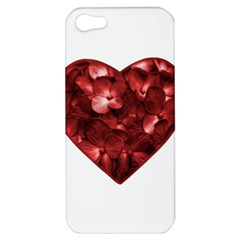 Floral Heart Shape Ornament Apple iPhone 5 Hardshell Case