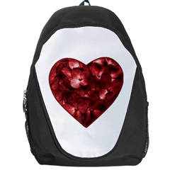 Floral Heart Shape Ornament Backpack Bag