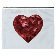 Floral Heart Shape Ornament Cosmetic Bag (XXXL)