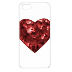 Floral Heart Shape Ornament Apple iPhone 5 Seamless Case (White)