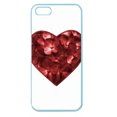 Floral Heart Shape Ornament Apple Seamless iPhone 5 Case (Color)