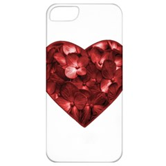 Floral Heart Shape Ornament Apple iPhone 5 Classic Hardshell Case