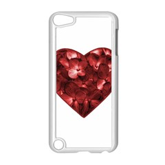 Floral Heart Shape Ornament Apple iPod Touch 5 Case (White)