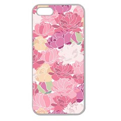 Peonies Flower Floral Roes Pink Flowering Apple Seamless iPhone 5 Case (Clear)