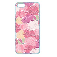 Peonies Flower Floral Roes Pink Flowering Apple Seamless iPhone 5 Case (Color)
