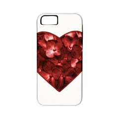 Floral Heart Shape Ornament Apple iPhone 5 Classic Hardshell Case (PC+Silicone)