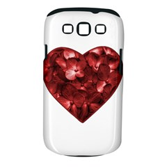 Floral Heart Shape Ornament Samsung Galaxy S III Classic Hardshell Case (PC+Silicone)
