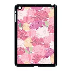 Peonies Flower Floral Roes Pink Flowering Apple iPad Mini Case (Black)