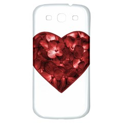 Floral Heart Shape Ornament Samsung Galaxy S3 S III Classic Hardshell Back Case