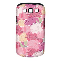 Peonies Flower Floral Roes Pink Flowering Samsung Galaxy S III Classic Hardshell Case (PC+Silicone)
