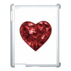 Floral Heart Shape Ornament Apple iPad 3/4 Case (White)