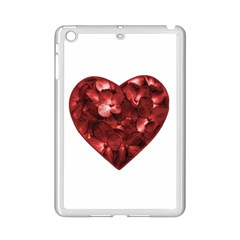 Floral Heart Shape Ornament iPad Mini 2 Enamel Coated Cases