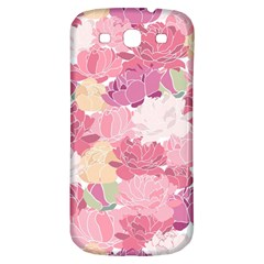 Peonies Flower Floral Roes Pink Flowering Samsung Galaxy S3 S III Classic Hardshell Back Case