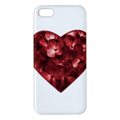 Floral Heart Shape Ornament Apple iPhone 5 Premium Hardshell Case
