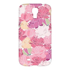 Peonies Flower Floral Roes Pink Flowering Samsung Galaxy S4 I9500/I9505 Hardshell Case