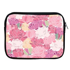 Peonies Flower Floral Roes Pink Flowering Apple iPad 2/3/4 Zipper Cases