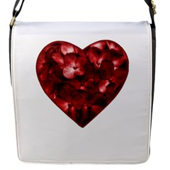 Floral Heart Shape Ornament Flap Messenger Bag (S)