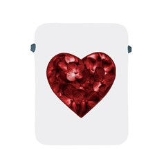 Floral Heart Shape Ornament Apple iPad 2/3/4 Protective Soft Cases
