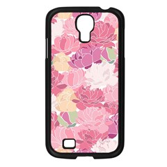 Peonies Flower Floral Roes Pink Flowering Samsung Galaxy S4 I9500/ I9505 Case (Black)