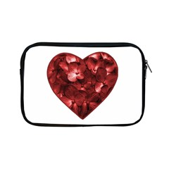 Floral Heart Shape Ornament Apple iPad Mini Zipper Cases