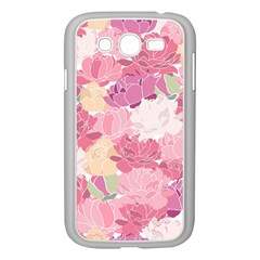 Peonies Flower Floral Roes Pink Flowering Samsung Galaxy Grand DUOS I9082 Case (White)