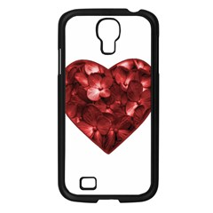 Floral Heart Shape Ornament Samsung Galaxy S4 I9500/ I9505 Case (Black)