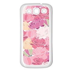 Peonies Flower Floral Roes Pink Flowering Samsung Galaxy S3 Back Case (White)