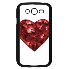 Floral Heart Shape Ornament Samsung Galaxy Grand DUOS I9082 Case (Black)