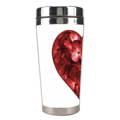 Floral Heart Shape Ornament Stainless Steel Travel Tumblers