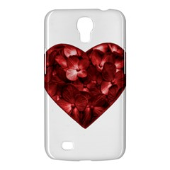 Floral Heart Shape Ornament Samsung Galaxy Mega 6.3  I9200 Hardshell Case