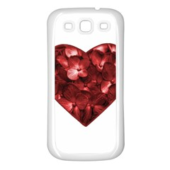 Floral Heart Shape Ornament Samsung Galaxy S3 Back Case (White)