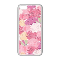 Peonies Flower Floral Roes Pink Flowering Apple iPhone 5C Seamless Case (White)