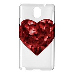 Floral Heart Shape Ornament Samsung Galaxy Note 3 N9005 Hardshell Case