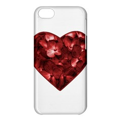 Floral Heart Shape Ornament Apple iPhone 5C Hardshell Case