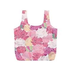 Peonies Flower Floral Roes Pink Flowering Full Print Recycle Bags (S)