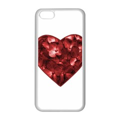 Floral Heart Shape Ornament Apple iPhone 5C Seamless Case (White)