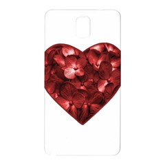 Floral Heart Shape Ornament Samsung Galaxy Note 3 N9005 Hardshell Back Case
