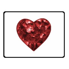 Floral Heart Shape Ornament Double Sided Fleece Blanket (Small)