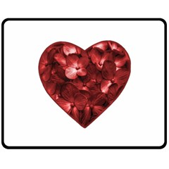 Floral Heart Shape Ornament Double Sided Fleece Blanket (Medium)