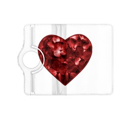 Floral Heart Shape Ornament Kindle Fire HD (2013) Flip 360 Case