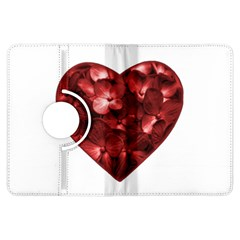 Floral Heart Shape Ornament Kindle Fire HDX Flip 360 Case