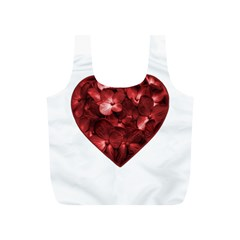 Floral Heart Shape Ornament Full Print Recycle Bags (S)