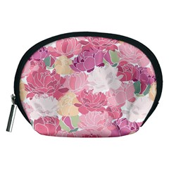 Peonies Flower Floral Roes Pink Flowering Accessory Pouches (Medium)