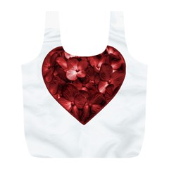 Floral Heart Shape Ornament Full Print Recycle Bags (L)