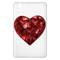 Floral Heart Shape Ornament Samsung Galaxy Tab Pro 8.4 Hardshell Case