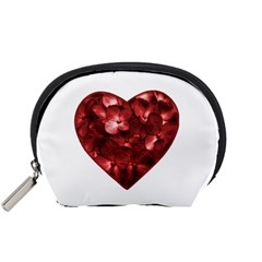 Floral Heart Shape Ornament Accessory Pouches (Small)